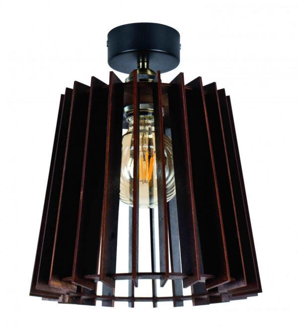 Светильник НББ 1*60ВТ, Е27, d 275, h 235, арт. 13640 венге
