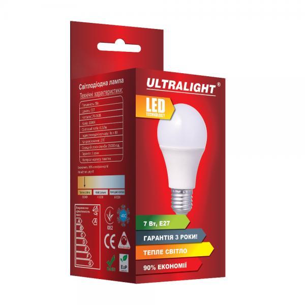 Светодиодная лампа A60-7W-Y-E27