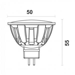 Светодиодная лампа MR16-6W-N G5.3