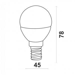 Светодиодная лампа P45-5W-N-E14